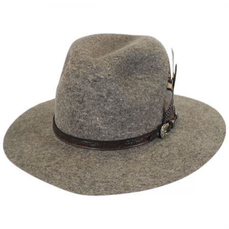 Biltmore Messenger Wool Felt Safari Fedora Hat