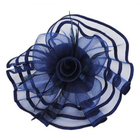 Navy Blue Fascinator at Village Hat Shop 33cd744e276