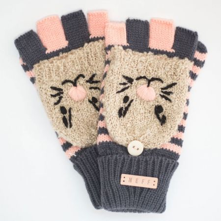 Neff Adorbs Fold-over Knit Fingerless Gloves
