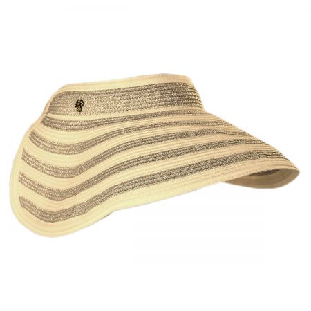 Tommy Bahama Metallic Stripe Straw Visor