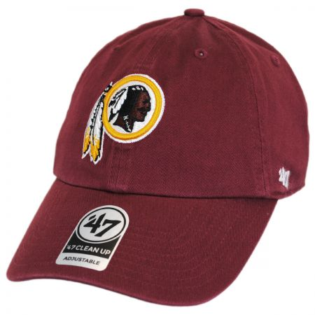 47 Brand Washington Redskins NFL Clean Up Strapback Baseball Cap
