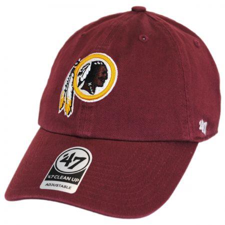 47 Brand Washington Redskins NFL Clean Up Strapback Baseball Cap