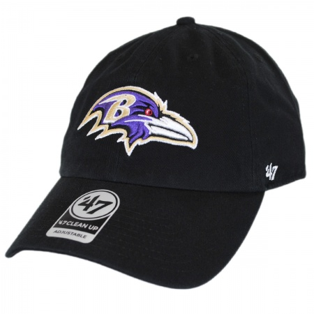 Baltimore Ravens NFL Clean Up Strapback Baseball Cap Dad Hat alternate view 1