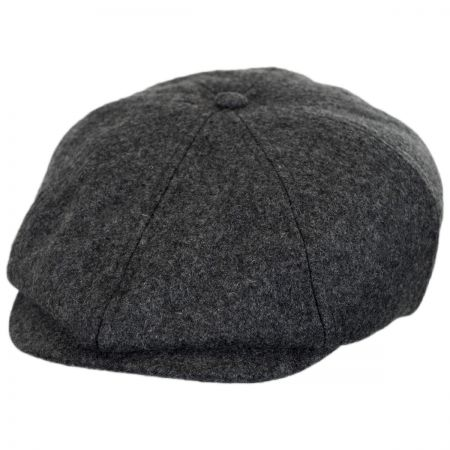 Brixton Hats Brood Solid Wool Blend Newsboy Cap