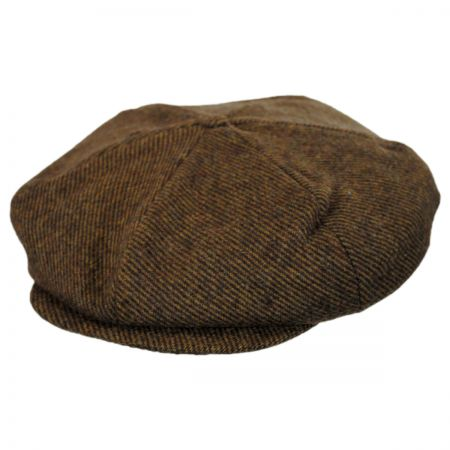 Brixton Hats Ollie Striped Tweed Wool Blend Newsboy Cap