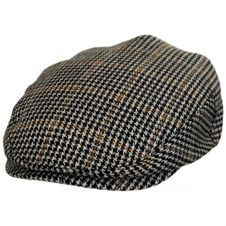 Brixton Hats Hooligan Houndstooth Tweed Wool Blend Ivy Cap