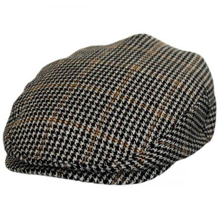 Brixton Hats Hooligan Houndstooth Tweed Wool Blend Ivy Cap