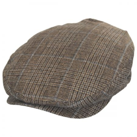 Brixton Hats Barrel Windowpane Plaid Wool Blend Ivy Cap