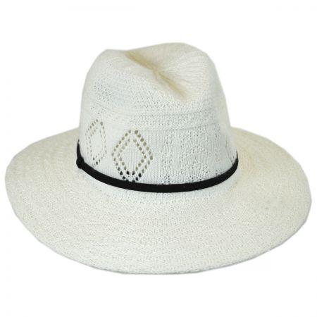 White Wide Brim Fedora at Village Hat Shop 0c90935c41d