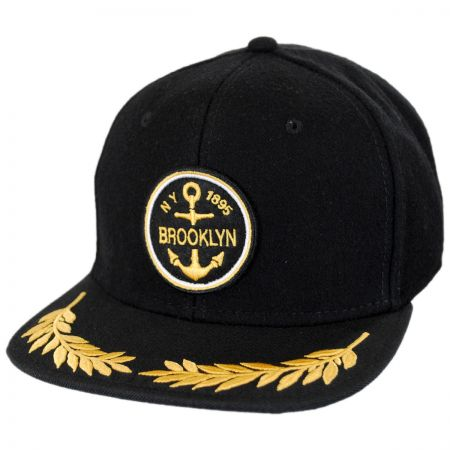 Brooklyn Hat Co Champion Wool and Twill Strapback Baseball Cap