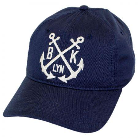 Brooklyn Hat Co Montauk Leather Strapback Baseball Cap