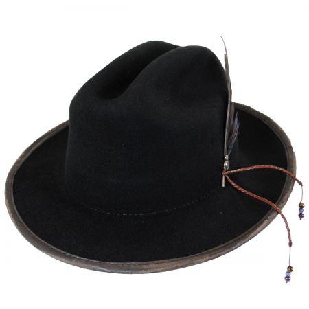 Carlos Santana Namaste Wool Felt Western Fedora Hat