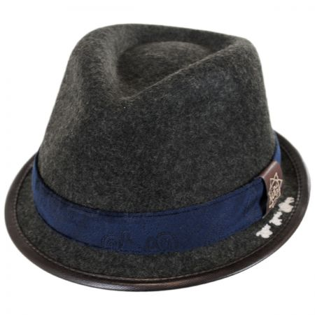 Grey Fedora Hats at Village Hat Shop 14f460285ee8