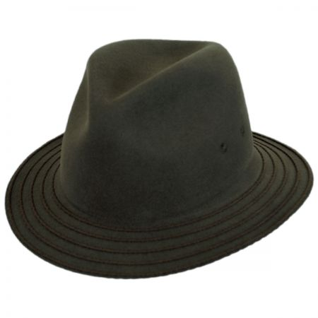 Browtine Wool LiteFelt Safari Fedora Hat alternate view 1