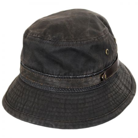 Stetson Distressed Fabric Bucket Hat