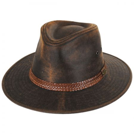 Stetson Distressed Cotton Twill Outback Hat