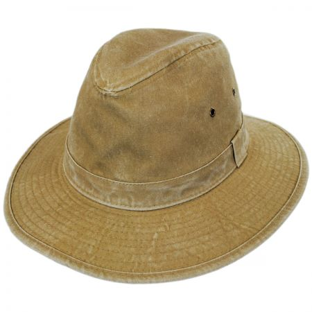 Dorfman Pacific Company Packable Cotton Safari Fedora Hat