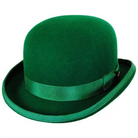Scala Low Crown Wool Felt Bowler Hat