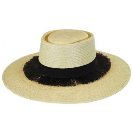 Barcelona Palm Leaf Straw Boater Hat