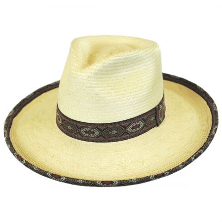 Brixton Hats Domingo Palm Leaf Straw Fedora Hat