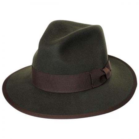 Brixton Hats Watts Wool Felt Safari Fedora Hat