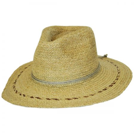 Carnaby Raffia Straw Wide Brim Fedora Hat alternate view 11