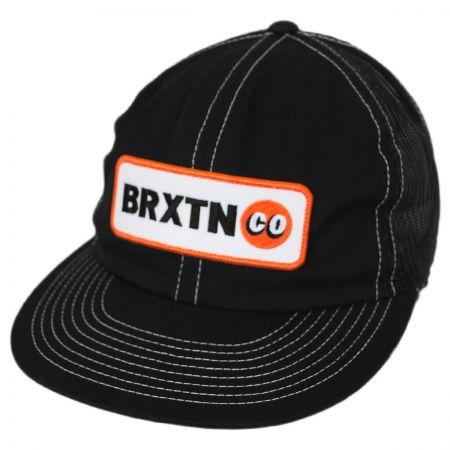 Brixton Hats Baldwin Mesh Trucker Snapback Baseball Cap