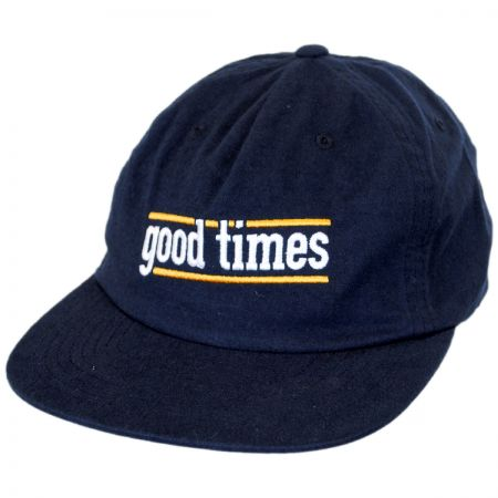 Brixton Hats Good Times Leather Strapback Baseball Cap