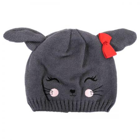 Bunny Knit Beanie Hat alternate view 1