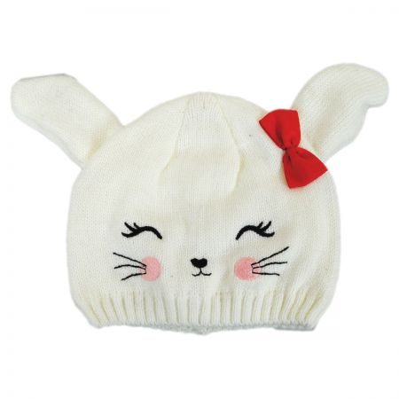 Bunny Knit Beanie Hat alternate view 2