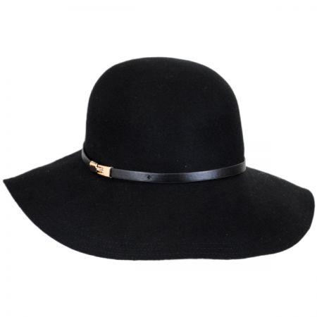 Scala Buckle Band Wool Felt Floppy Hat