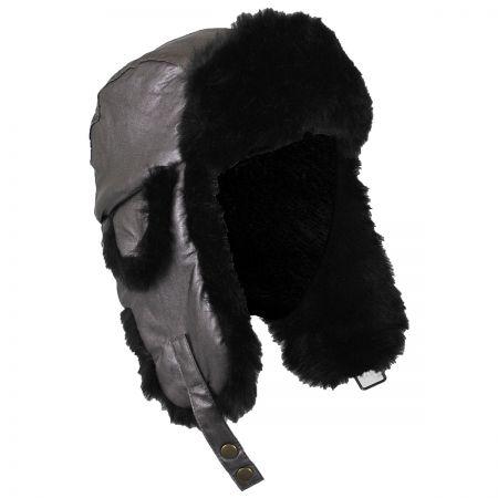 Sasha Faux Leather Trooper Hat alternate view 4