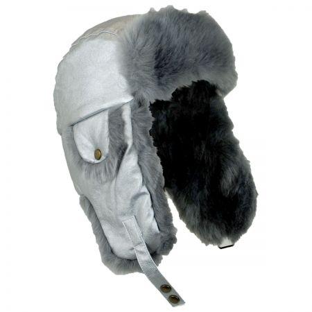 Scala Sasha Faux Leather Trooper Hat