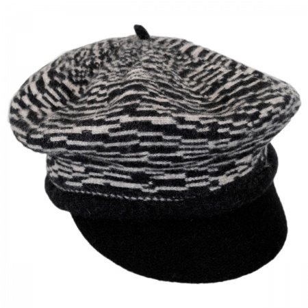 Scala Two-Tone Wool Newsboy Cap