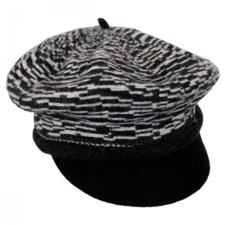 Scala Two-Tone Wool Newsboy Cap