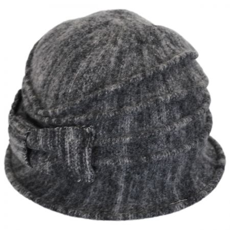 Scala Heathered Boiled Wool Cloche Hat