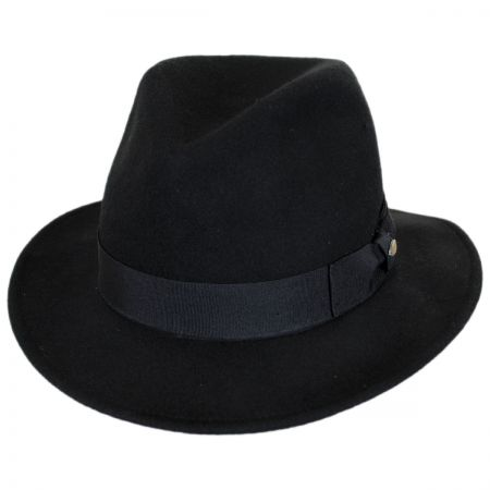 Scala Featherweight Wool Felt Safari Fedora Hat