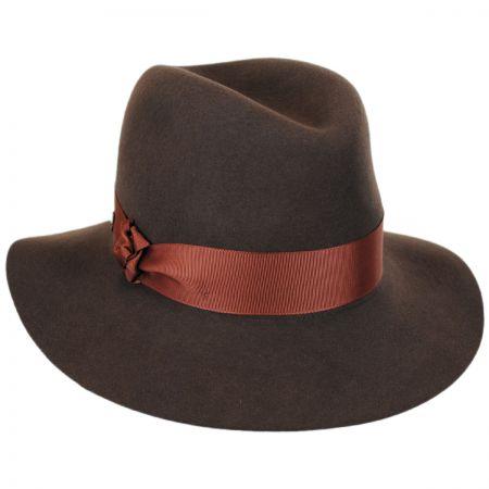 Karen Kane Knotted Trim Wool Felt Fedora Hat