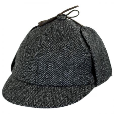 Herringbone Wool Sherlock Holmes Hat alternate view 1