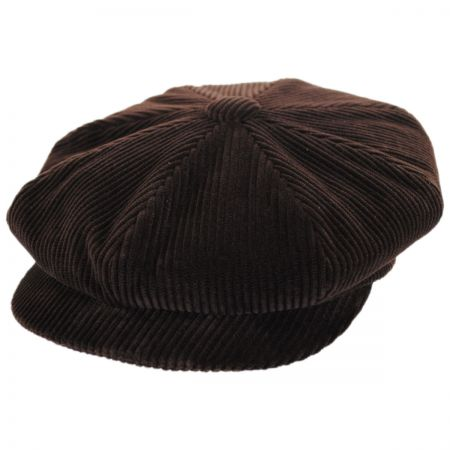 City Sport Caps Wide Wale Corduroy Newsboy Cap