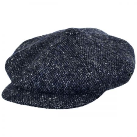 Marl Donegal Tweed Wool Newsboy Cap