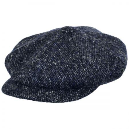 City Sport Caps Marl Donegal Tweed Wool Newsboy Cap