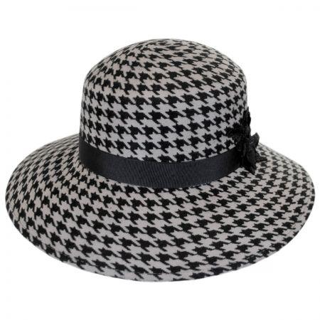 Callanan Hats Houndstooth Wool Felt Breton Hat