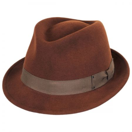 Brown Wool Fedora at Village Hat Shop e58be638fa4