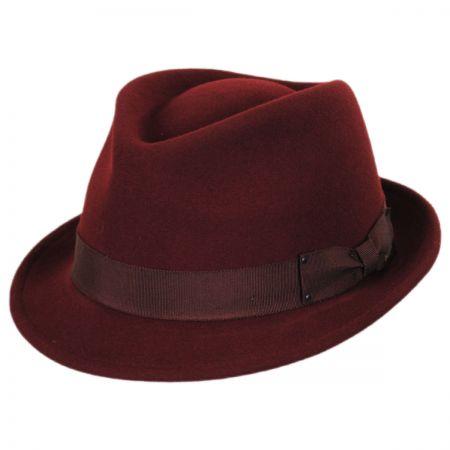 0bc715c8a1903 Maroon Fedora at Village Hat Shop