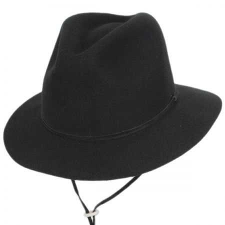 Pantropic Skylar Wool LiteFelt Chincord Safari Fedora Hat