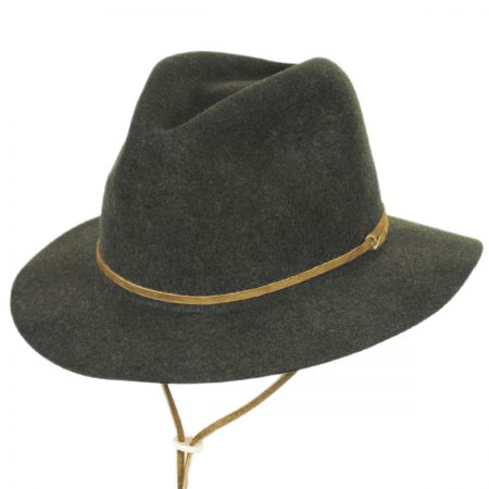 Skylar Wool LiteFelt Chincord Safari Fedora Hat alternate view 13