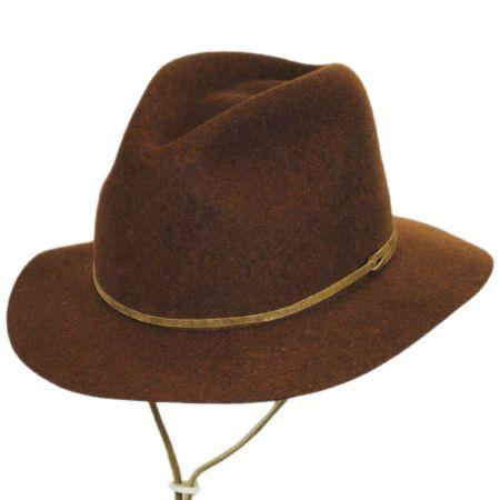 Skylar Wool LiteFelt Chincord Safari Fedora Hat