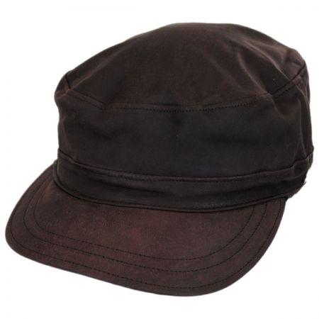 Bailey Falconer Lambskin Leather Military Earflap Cap