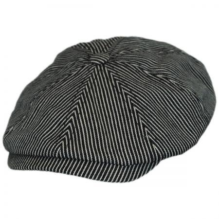 Falc Striped Cotton Newsboy Cap alternate view 1